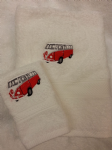 VW CAMPER VAN PERSONALISED TOWEL SET - Transport